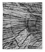 Aged Wood Fleece Blanket