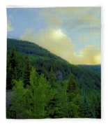 Ah To Live On Vail Mountain Fleece Blanket