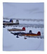Air Show Flyover Fleece Blanket