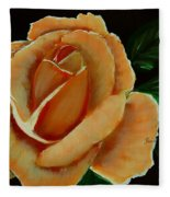 Airbrushed Coral Rose Fleece Blanket