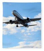 Airplane Landing Fleece Blanket