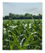 Alabama Field Corn Crop Fleece Blanket