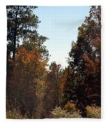 Alabama Mountainside October 2012 Fleece Blanket