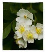 Alabama Wildflower Roses - Rosa Multiflora Fleece Blanket