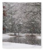 Alabama Winter Wonderland Fleece Blanket