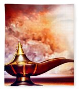 Aladdin Lamp Fleece Blanket