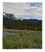 Alaska Lupine Fleece Blanket