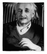 Albert Einstein, German-american Fleece Blanket