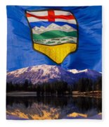 Albertas Rocky Mountains Fleece Blanket