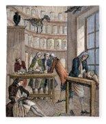 Albrecht Von Haller In Lab Fleece Blanket