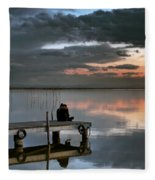 Albufera. Couple. Valencia. Spain Fleece Blanket