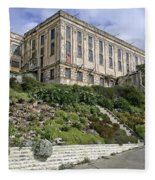 Alcatraz Cell House West Facade Fleece Blanket