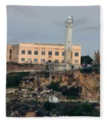 Alcatraz Island Lighthouse - San Francisco California  Fleece Blanket