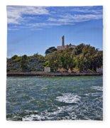 Alcatraz Island San Francisco Fleece Blanket