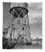 Alcatraz Penitentiary Water Tower Fleece Blanket