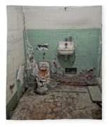 Alcatraz Vandalized Cell Fleece Blanket