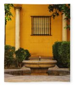 Alcazar Fountain In Spain Fleece Blanket