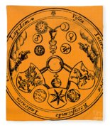 Alchemical Symbols, 1670 Fleece Blanket