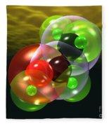 Alcohol Molecule 4 Fleece Blanket