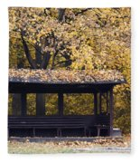 Alcove In The Autumn Park Fleece Blanket
