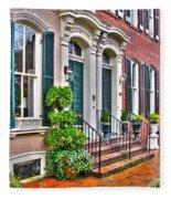 Alexandria Row Houses Fleece Blanket