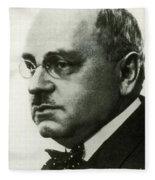 Alfred Adler, Austrian Psychologist Fleece Blanket