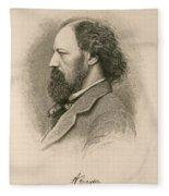 Alfred, Lord Tennyson, English Poet Fleece Blanket