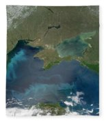 Algal Blooms In The Black Sea Fleece Blanket