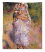 Algerian Woman And Child Fleece Blanket