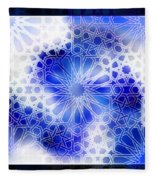 Alhambra Pattern Blue Fleece Blanket