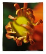 Alien Flower Fleece Blanket