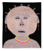 Alien  Lifeform From  Stucco  World  -  One Fleece Blanket