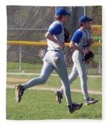 All Air Baseball Players Running Fleece Blanket