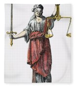 Allegory: Justice, 1726. Line Engraving (detail), German Fleece Blanket