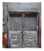 Alley Doors Fleece Blanket
