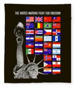 Allied Nations Fight For Freedom Fleece Blanket
