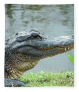 Alligator Cameron Prairie Nwr La Fleece Blanket