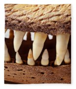 Alligator Skull Teeth Fleece Blanket