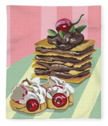 Almond Cake Fleece Blanket
