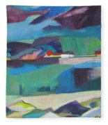 Almost Abstract Painting Fleece Blanket