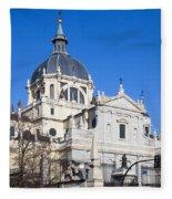 Almudena Cathedral In Madrid Fleece Blanket