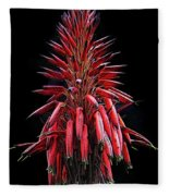 Aloe Flowers Fleece Blanket