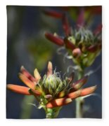 Aloe Vera Blossoms  Fleece Blanket
