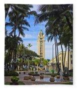 Aloha Tower II Fleece Blanket
