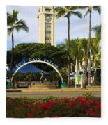 Aloha Tower Fleece Blanket