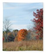 Alone With Autumn Fleece Blanket