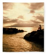 Alone With Your Thoughts Fleece Blanket