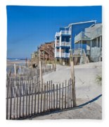 Along The Beach Fleece Blanket
