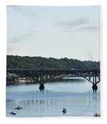 Along The Schuylkill River At Strawberry Mansion Fleece Blanket