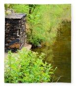 Along The Shallow Water Fleece Blanket